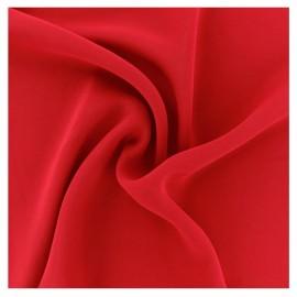 Tissu mousseline crêpe - Rouge passion x 50cm
