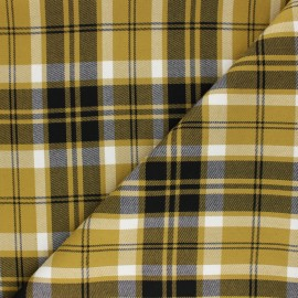 Polyviscose elastane fabric - yellow Holborn x 10cm
