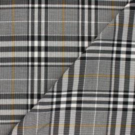 Tissu polyviscose élasthanne Carnaby - noir et blanc x 10cm