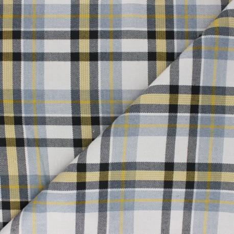 Polyviscose elastane fabric - grey Lambeth x 10cm