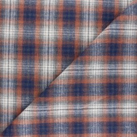 Checked flannel fabric - orange Kirkcaldy x 10cm