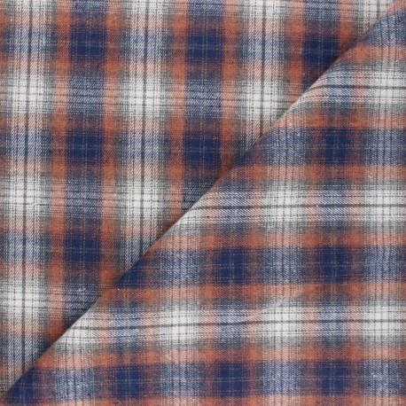 Checked flannel fabric - orange Kirkcaldy x 10cm