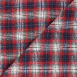 Checked flannel fabric - red Kirkcaldy x 10cm