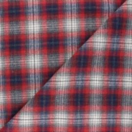 Tissu flanelle à carreaux Kirkcaldy - rouge x 10cm
