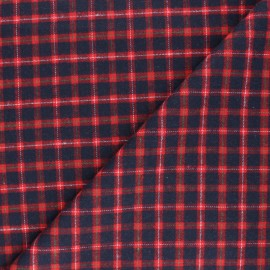 Checked flannel fabric - red Charlestown x 10cm