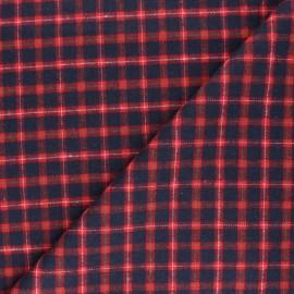 Tissu flanelle à carreaux Charlestown - rouge x 10cm