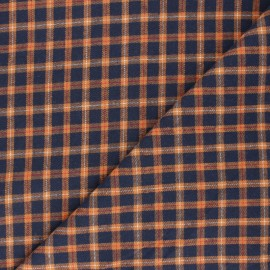 Checked flannel fabric - orange Charlestown x 10cm