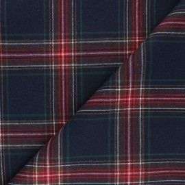 Checked flannel fabric - navy blue Stirling x 10cm