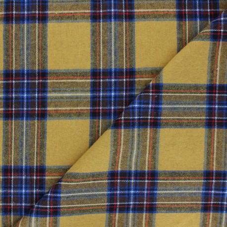 Tissu flanelle à carreaux Stirling - jaune x 10cm
