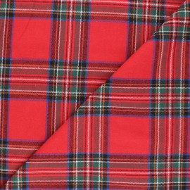 Checked flannel fabric - red Stirling x 10cm