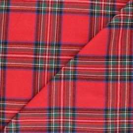 Tissu flanelle à carreaux Stirling - rouge x 10cm