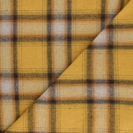 Tissu flanelle à carreaux Perth - jaune x 10cm