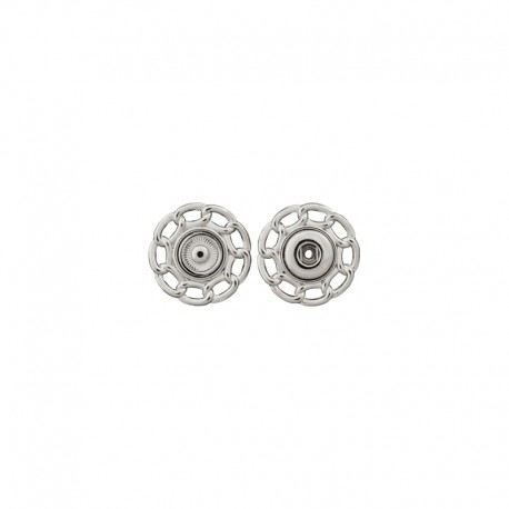 Metal Snap Button - Silver Carole
