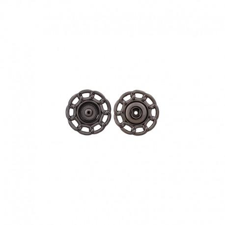 Metal Snap Button - black nickel Carole