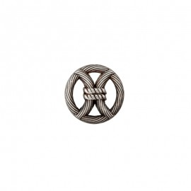 18 mm Metal Button - silver Port-Louis