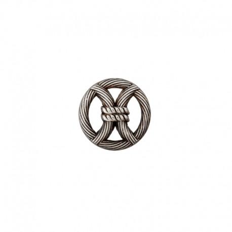 18 mm Metal Button - silver Port-Louis