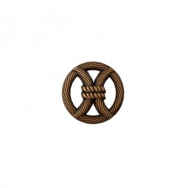 18 mm Metal Button - gold Port-Louis
