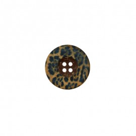 23 mm polyester Button - Léopard Savage