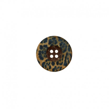 23 mm Coconut Wood Button - Léopard Savage
