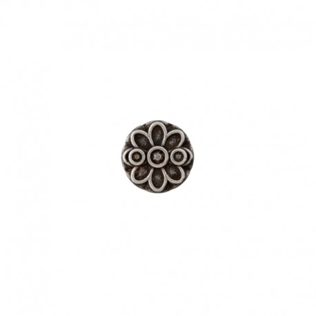 Metal Button - silver Lucia