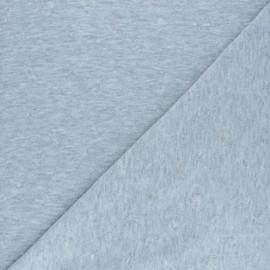 Tissu jersey coeur relief - gris x 10cm