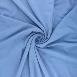 Tissu jersey Modal uni - bleu x 10cm