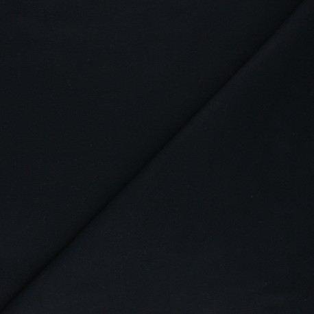 Plain Flannel Fabric - black Douceur x 10cm