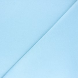Plain Flannel Fabric - sky blue Douceur x 10cm