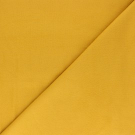 Plain Flannel Fabric - mustard yellow Douceur x 10cm