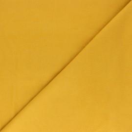 Plain Flannel Fabric - mustard yellow Douceur x 10cm