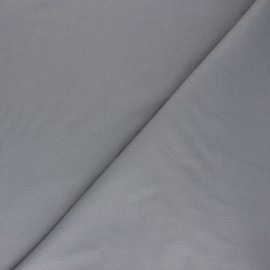 Plain Flannel Fabric - grey Douceur x 10cm