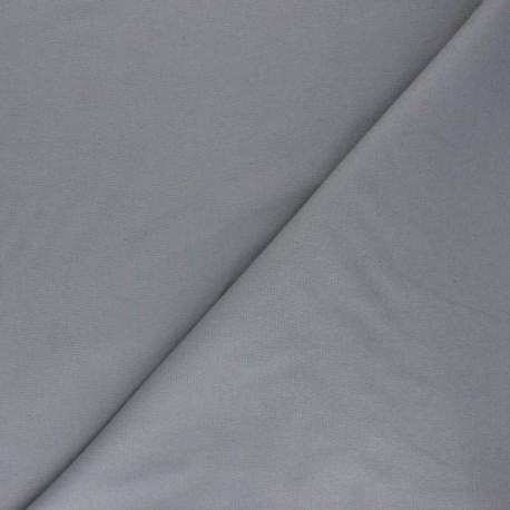 Plain Flannel Fabric - grey Douceur x 10cm