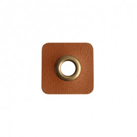 Oeillet simili cuir 8 mm - Marron
