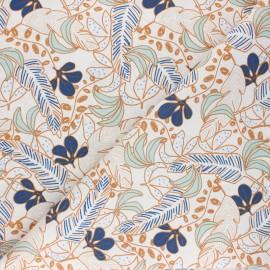 Cretonne cotton Fabric - blue Poyo x 10cm