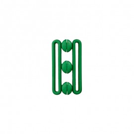 Polyester belt buckle - green Andy
