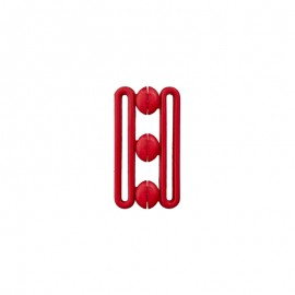 Polyester belt buckle - red Andy