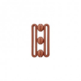 Polyester belt buckle - brown Andy