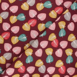 Cretonne cotton Fabric - plum purple Cories x 10cm