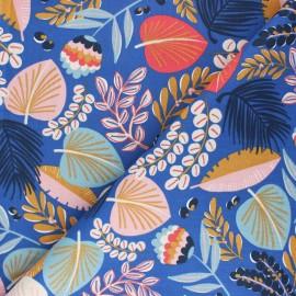 Cretonne cotton Fabric - blue Kohpical x 10cm