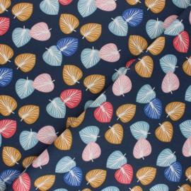 Cretonne cotton Fabric - navy blue Cories x 10cm