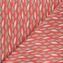 Cretonne cotton Fabric - coral pink Cojoa x 10cm