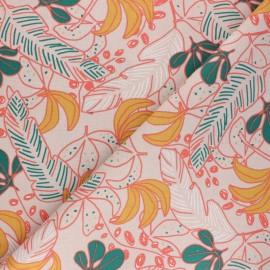 Tissu coton cretonne Guzalor - beige x 10cm