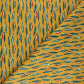 Cretonne cotton Fabric - mustard yellow Cojoa x 10cm
