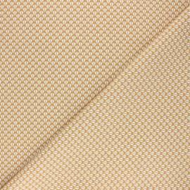 Tissu coton cretonne Odenn - ocre x 10cm