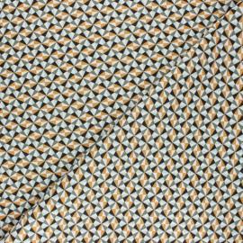 Tissu coton cretonne Ponzo - vert x 10cm
