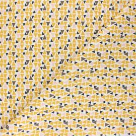 Tissu coton cretonne Modino - jaune x 10cm
