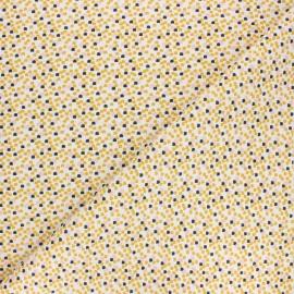 Tissu coton cretonne Emmet - jaune x 10cm