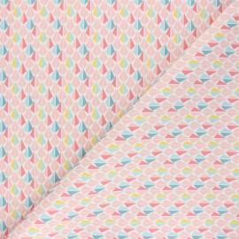 Tissu coton cretonne Odeca - rose x 10cm