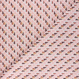 Tissu coton cretonne Odeca - marron x 10cm