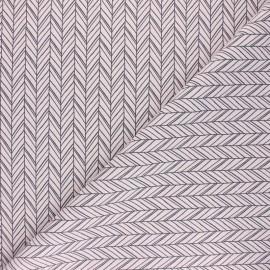 Tissu coton cretonne Dano - rose x 10cm